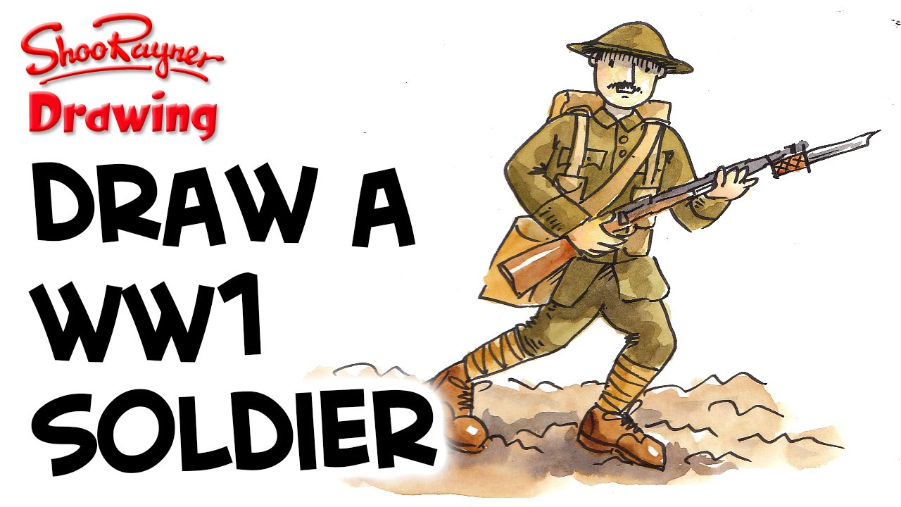 Soldier clipart drawn WW1 WW1 a How YouTube