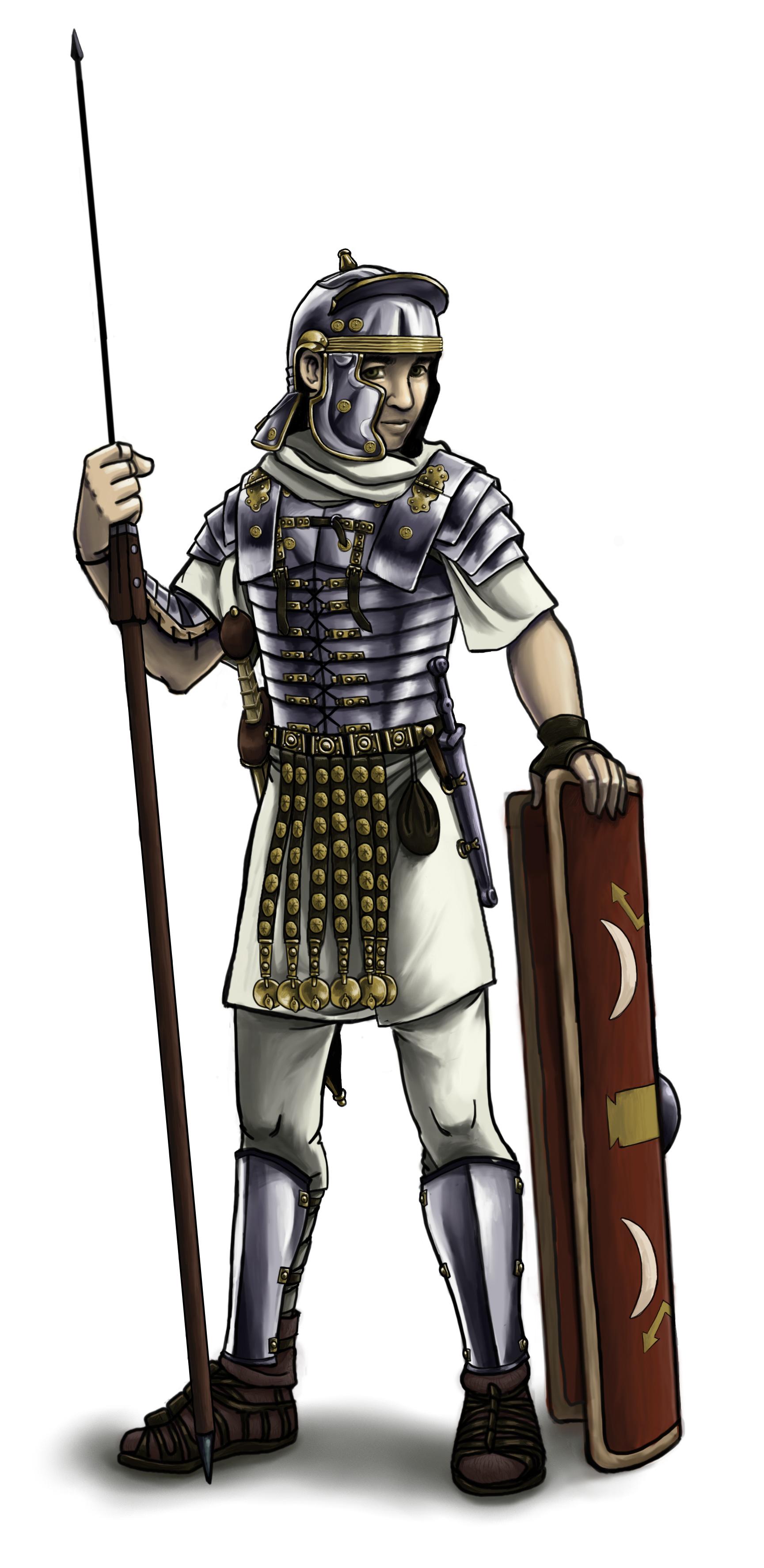 Achilles clipart roman soldier Painting Clip Soldier on Art