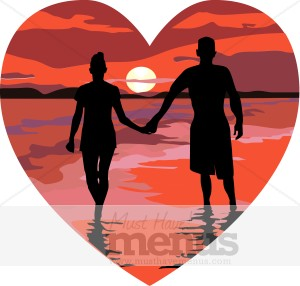 Romance clipart Newlywed romance Wedding Clipart clipart