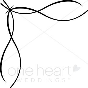 Elegance  clipart ribbon scroll Clipart Ribbon Border Border Flourish