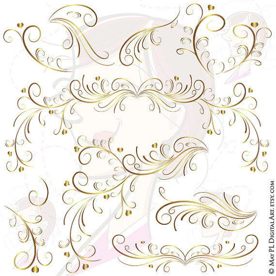 Decoration clipart wedding reception Heart Page Graphics Retro Curly