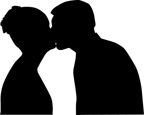 Kisses clipart black and white Free Panda Clipart Images Courtship