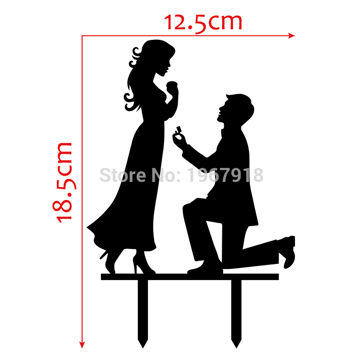 Romance clipart engagement party Detailed More Cake  Topper