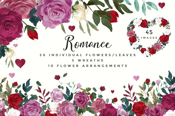 Red Flower clipart romance #1