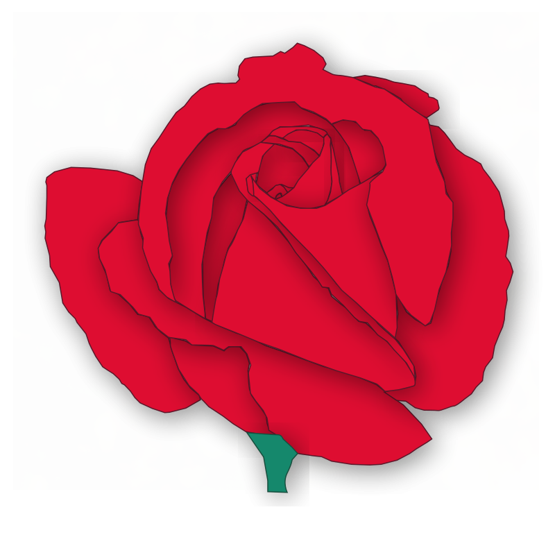 Red Flower clipart romance #5