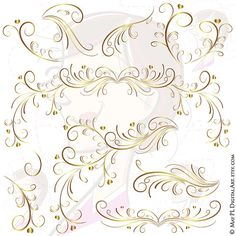 Romance clipart gold heart #7