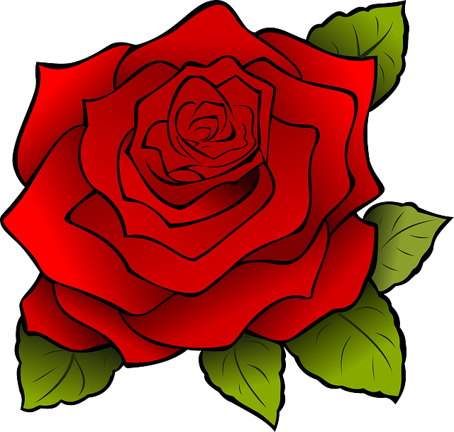 Red Flower clipart romance #14