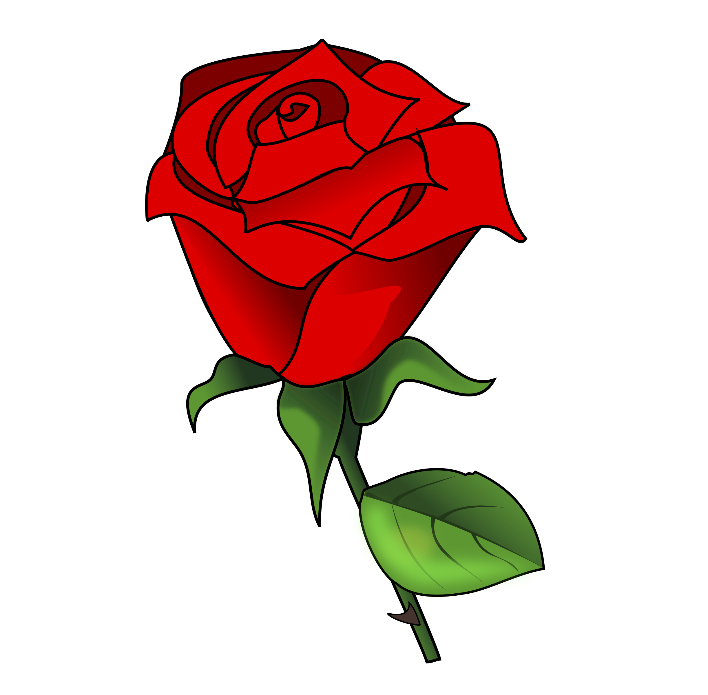 Red Flower clipart romance #6