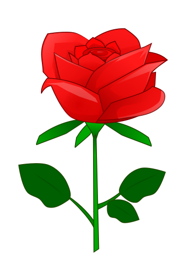 Romance clipart simple rose #2