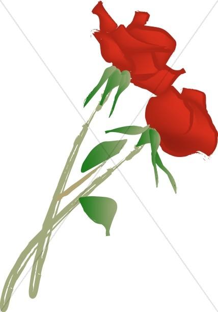 Romance clipart simple rose Rose Clipart Two Church Cut