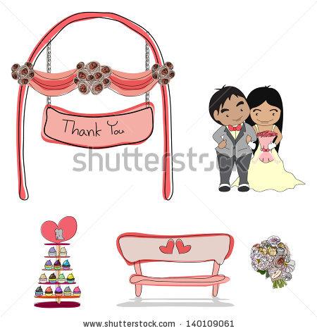 Romance clipart wedding celebration Romantic vector celebration marriage illustration