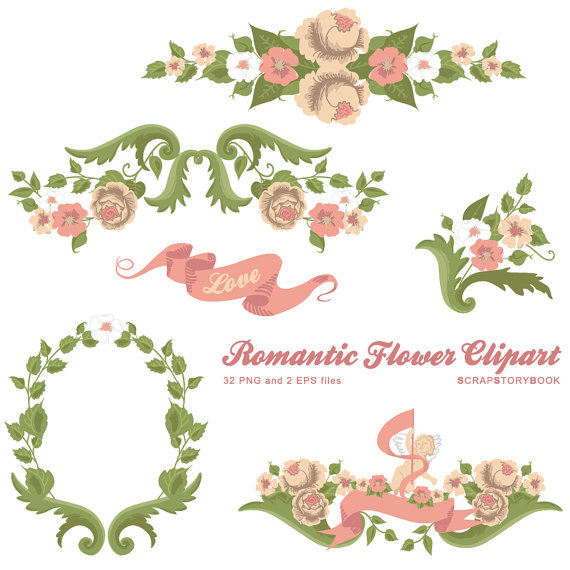Romantic clipart wedding flower #7