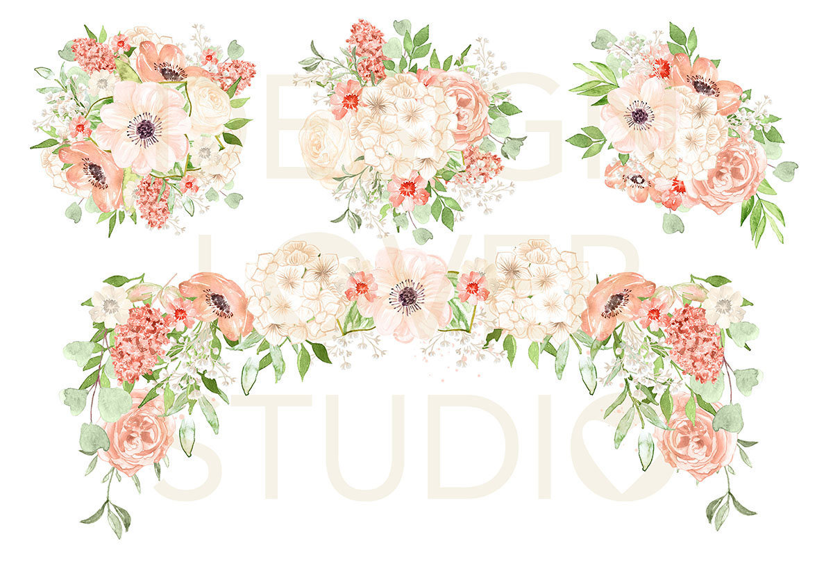 Romantic clipart wedding flower #6
