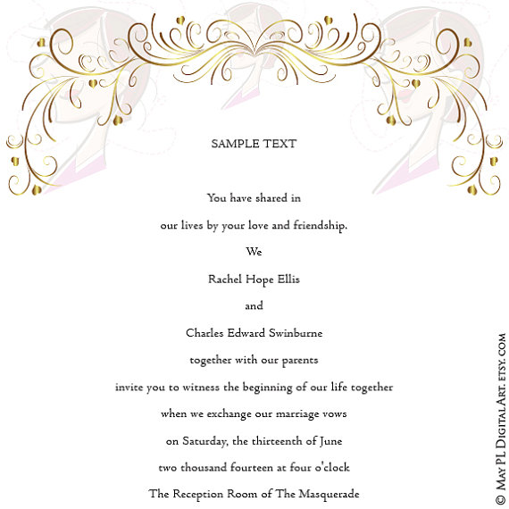 Romance clipart wedding program #2