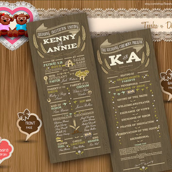 Romance clipart wedding program #11