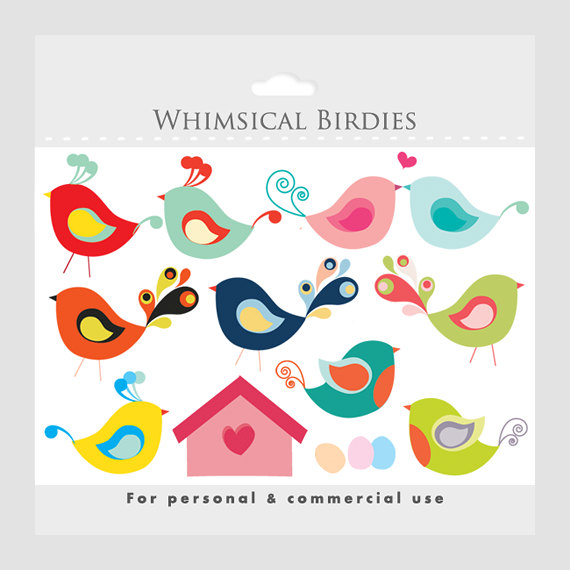 Bird House clipart birdie Sweet sweet whimsical clipart eggs