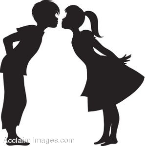 Kisses clipart nice boy Girls clipart date Dinner girls
