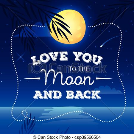 Romantic clipart moon #4