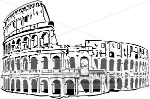 Colosseum clipart black and white Roman Roman Coliseum Clipart Coliseum