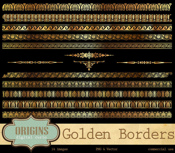 Rome clipart border By Gold Roman and and