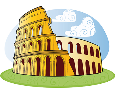 Colosseum clipart roman empire For Rome Travel for