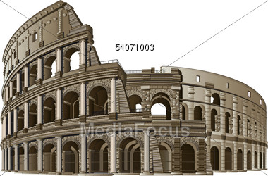 Colosseum clipart rome italy Clipart Image 54071003 Stock Photo