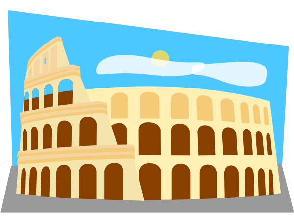 Colosseum clipart italian food At Clker art this Roman