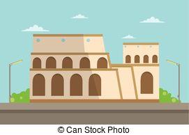 Rome clipart colosseum Abstract Colosseum Italian Rome achitecture