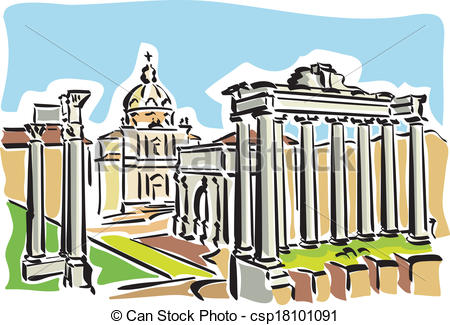 Rome clipart drawing Illustration of Roman the