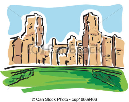 Rome clipart drawing Caracalla) Vector (Baths of the
