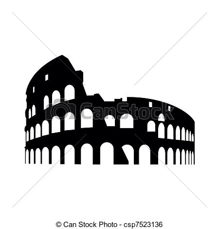 Rome clipart drawing  Collosseum abstract Clip of