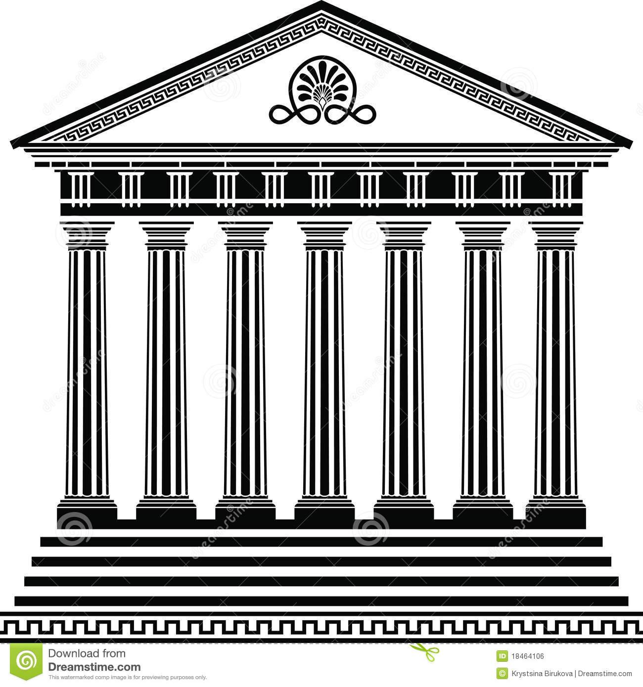 Structure clipart mandir Clipart cliparts Greek Buildings Greek