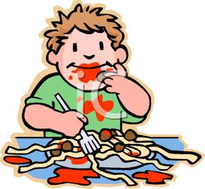 Pasta clipart boy eating Meatball Free Images Clipart Panda