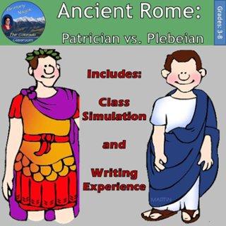 Rome clipart plebeians  familias patricians plebeian padr
