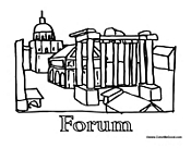 Rome clipart roman forum #3