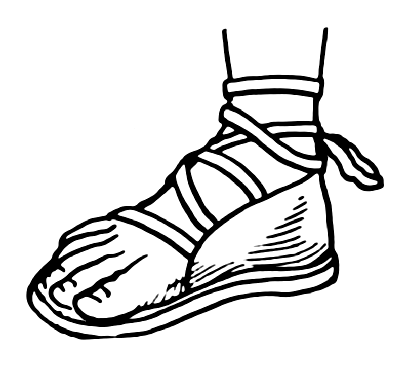 Sandal clipart roman Ruth: shoes Pictures שָׁלַף of