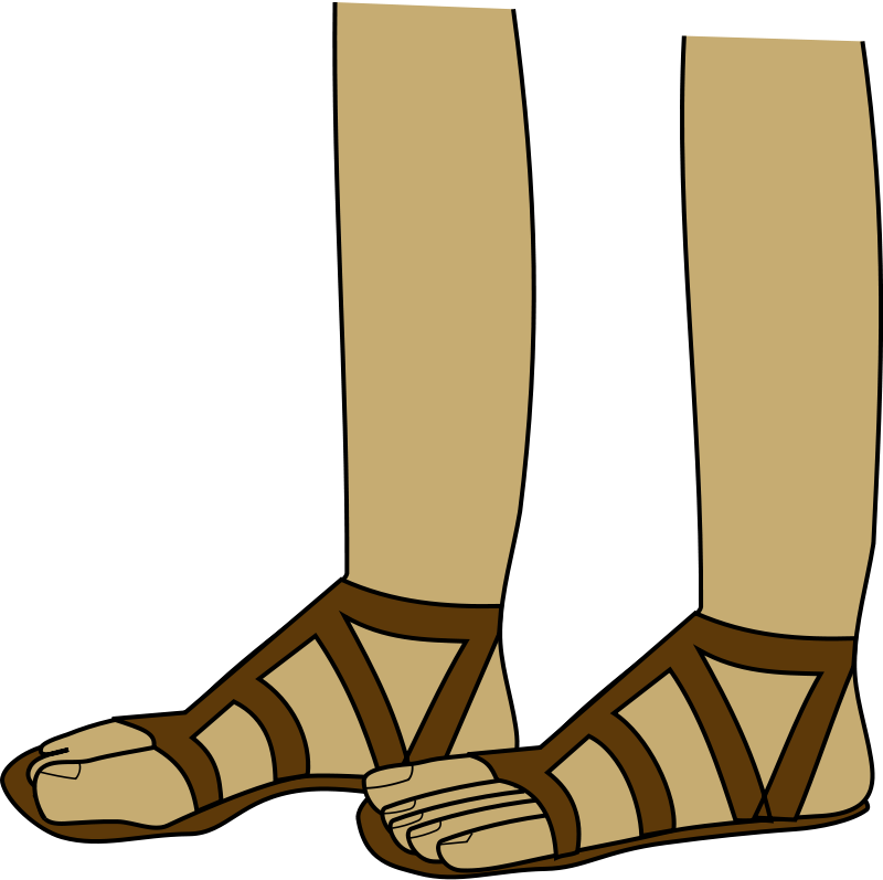 Sandal clipart roman Download Sand Feet Clip Art