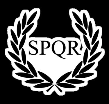 Rome clipart spqr People Senatus Rome senate the