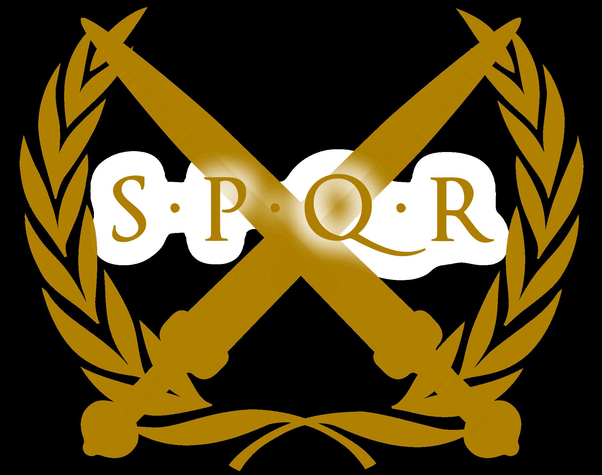 Rome clipart spqr Rome vector  spqr senatus_populus_que_romanus