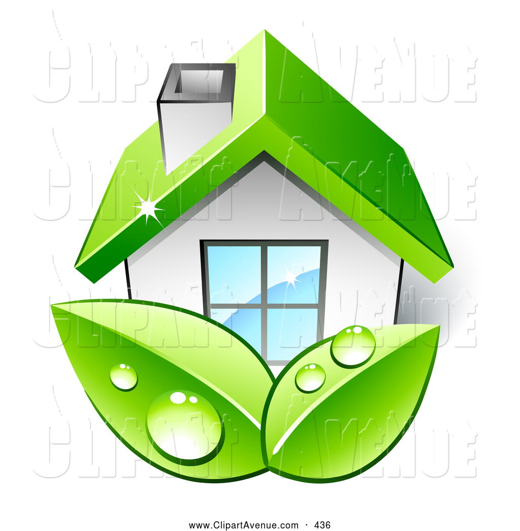 Roof clipart green roof #9