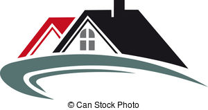 Roof clipart real estate Stock Real white house estate