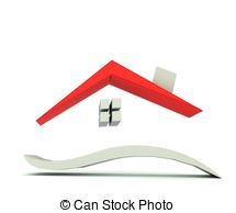 Hosue clipart roof Red red  roof