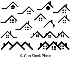 Rooftop clipart Set Illustrations  white Roof