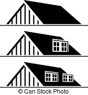 Rooftop clipart house outline #2