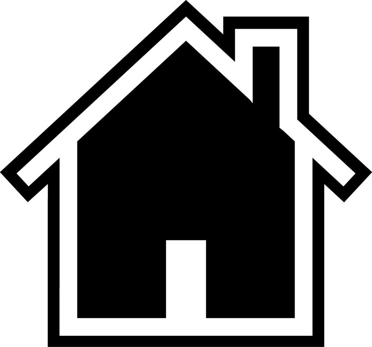Rooftop clipart house outline #7