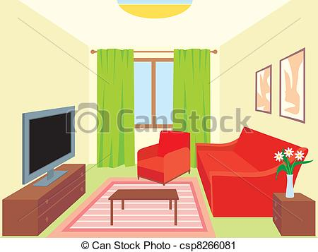 Furniture clipart living room Home room Art Clipart Vector