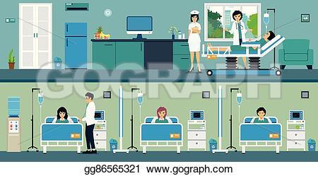 Room clipart hospital room #5