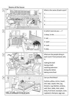 Room clipart house worksheet for kid #14