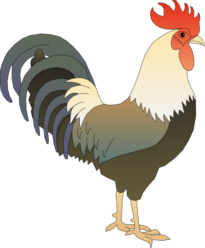 Rooster clipart Use Public Free Rooster Clip