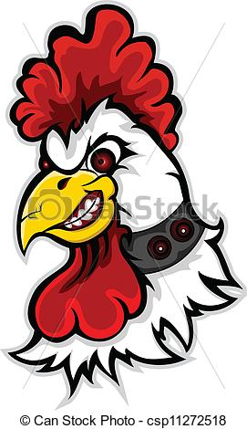 Drawn rooster angry Angry vector angry head of